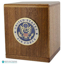 Load image into Gallery viewer, FREEDOM MAHOGANY URN - Caskets Warehouse