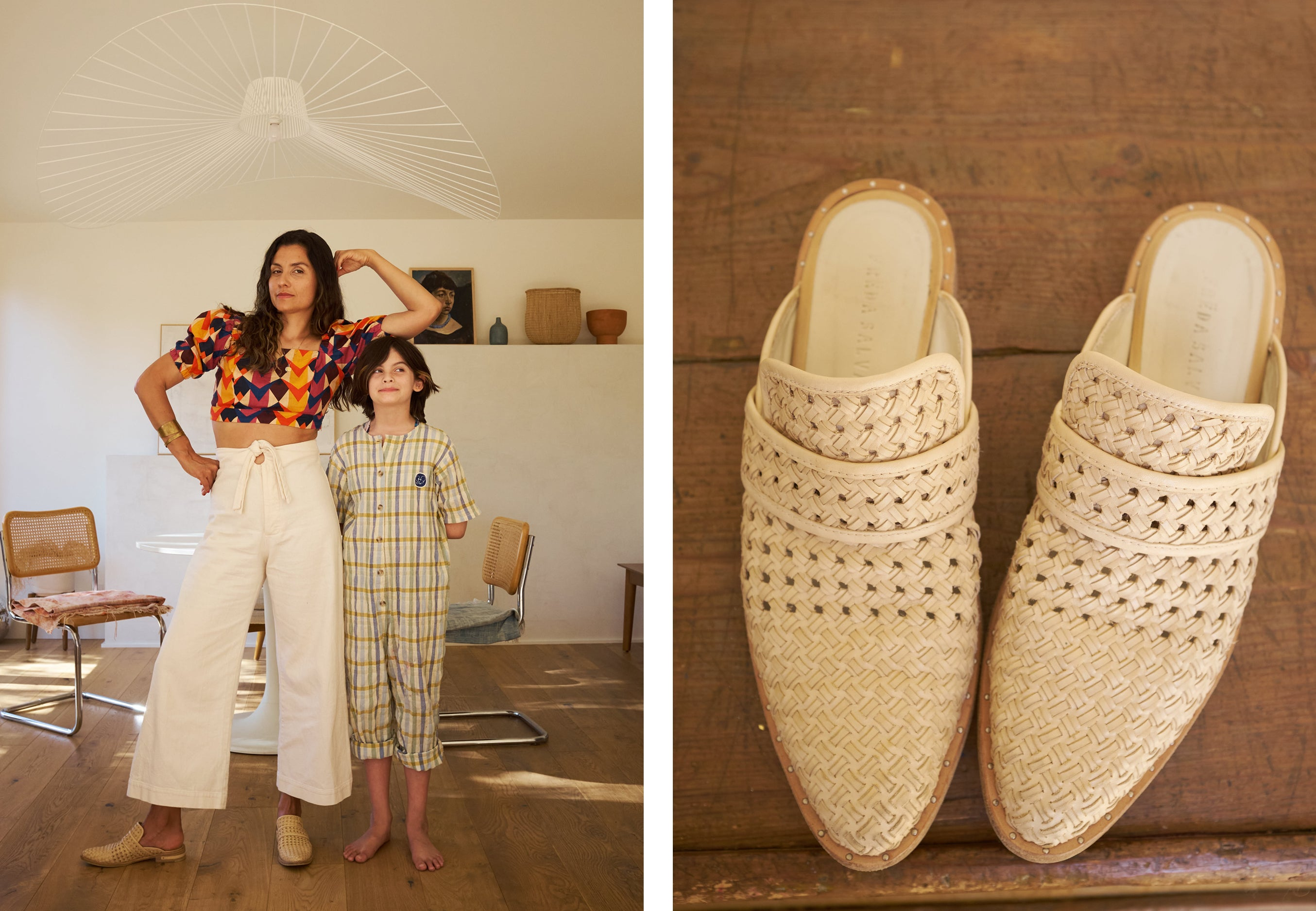 The KEENN woven natural as seen on photographer and Mom, Priscilla Gragg in her home.