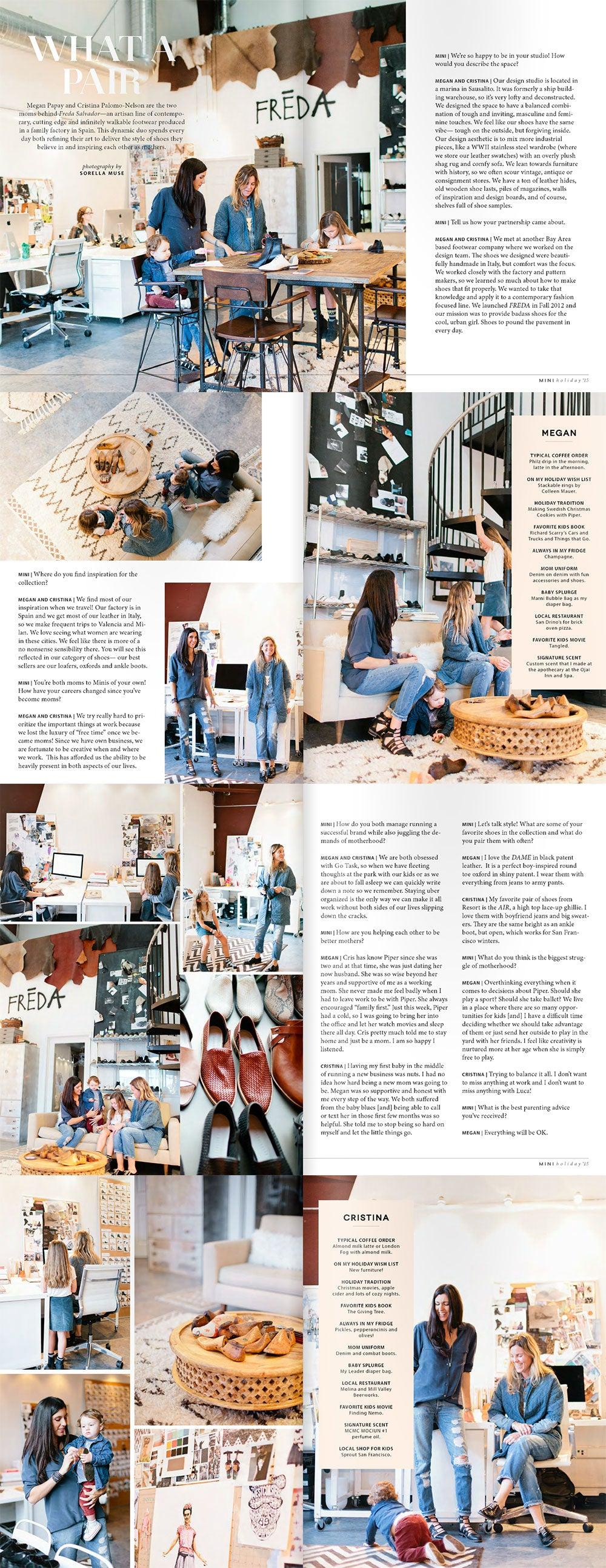 Mini Magazine Featuring Cristina Palomo-Nelson and Megan Papay