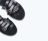 ISA MULTI BUCKLE SANDAL, [product-type] - FREDA SALVADOR Power Shoes for Power Women