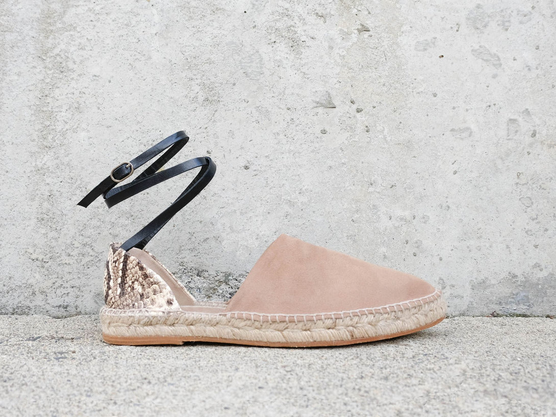 ARIA Ankle Wrap Espadrille - Final Sale