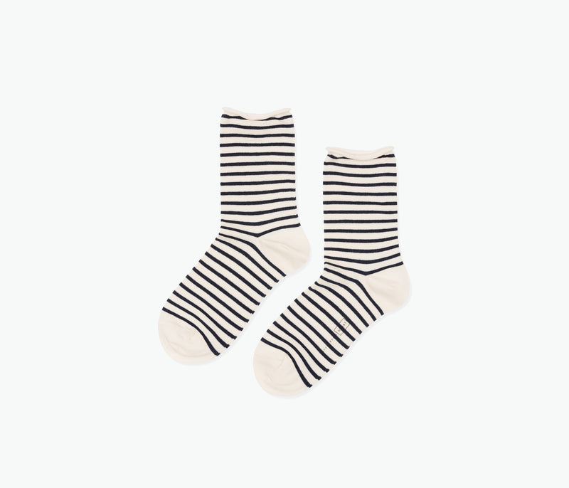Stripe Crew Sock, [product-type] - FREDA SALVADOR Power Shoes for Power Women