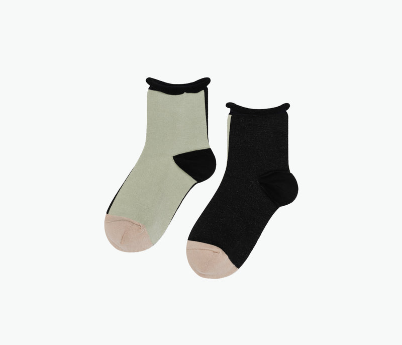 Color Block Crew Sock, [product-type] - FREDA SALVADOR Power Shoes for Power Women