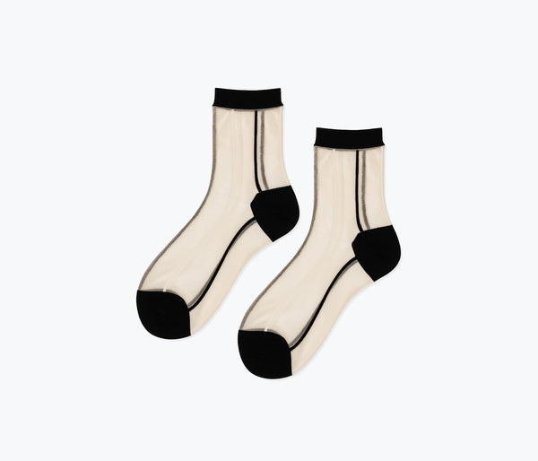 STRIPE SHEER SOCK - FREDA SALVADOR