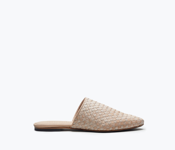HOLLY Woven Slip On Mule - FREDA SALVADOR