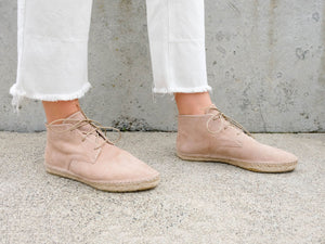 HARPER  Lace Up Espadrille Bootie