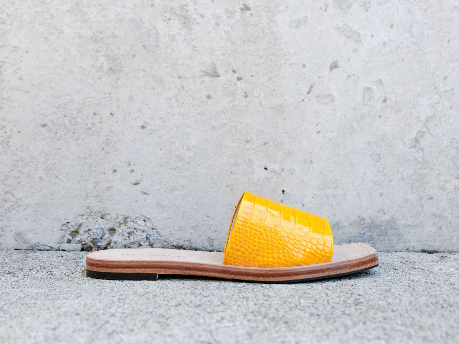 JESSA Square Toe Slip On Sandal