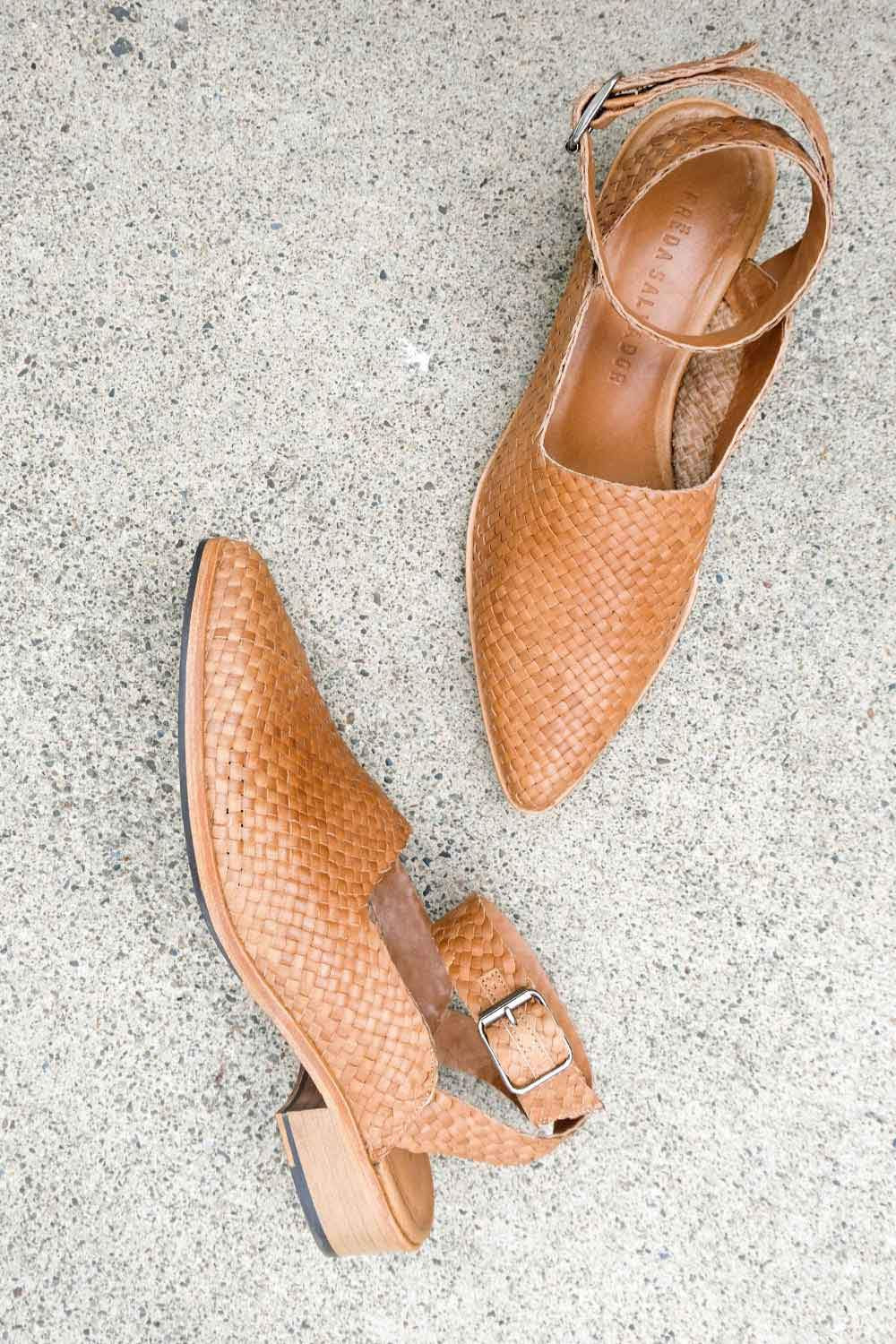 MARBELLA Handwoven Flat - FREDA SALVADOR Power Shoes for Power Women