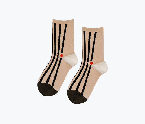 MATCHSTICK CREW SOCK, [product-type] - FREDA SALVADOR Power Shoes for Power Women