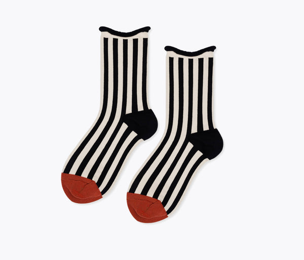STRIPED CREW SOCK, [product-type] - FREDA SALVADOR Power Shoes for Power Women