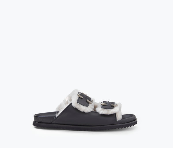 SHEN SANDAL W SHEARLING, [product-type] - FREDA SALVADOR Power Shoes for Power Women