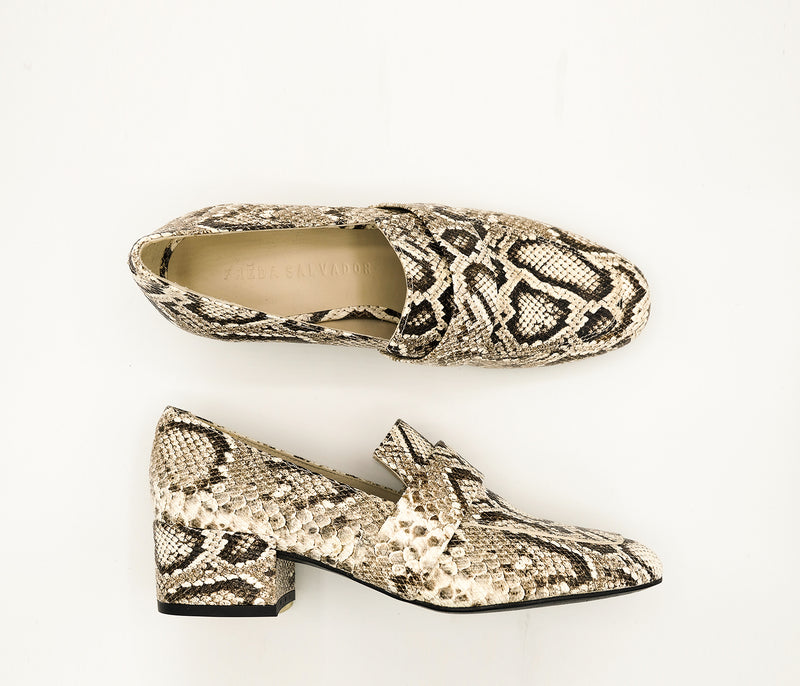SAMPLE - Rock Vanilla Snake, [product-type] - FREDA SALVADOR Power Shoes for Power Women