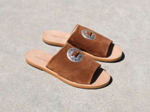 DUNE Slip On Sandal w/ Bolo Ornament