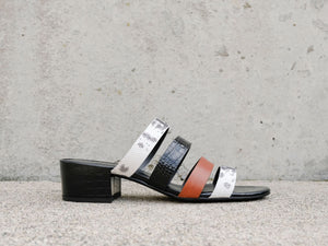 IRENE Multi Strap Mid Heel Sandal - Final Sale - FREDA SALVADOR Power Shoes for Power Women