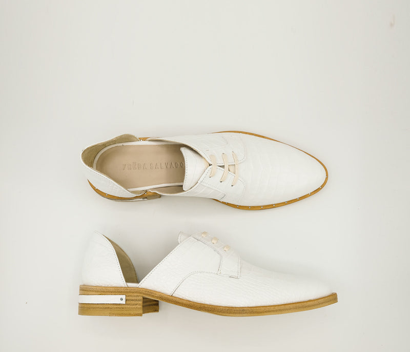 SAMPLE - Wit Oxford, [product-type] - FREDA SALVADOR Power Shoes for Power Women