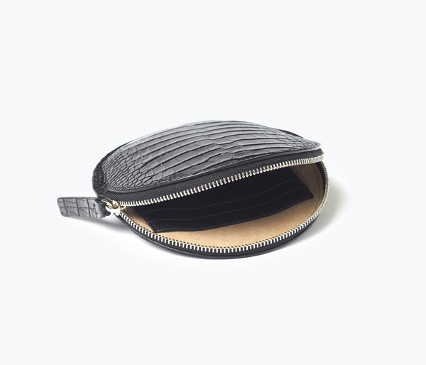 AVA CIRCLE CARDHOLDER POUCH, [product-type] - FREDA SALVADOR Power Shoes for Power Women