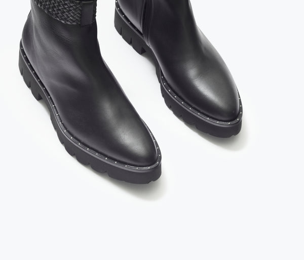 FLORA LUG SOLE BOOT, [product-type] - FREDA SALVADOR Power Shoes for Power Women