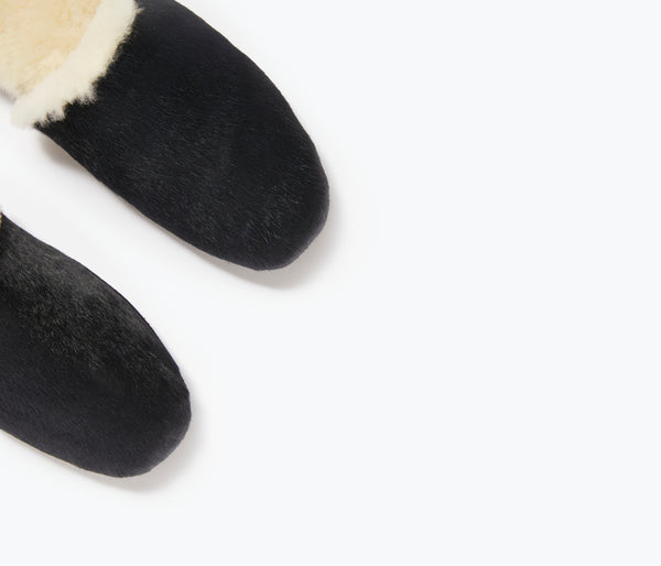 JAMES SHEARLING SLIPPER, [product-type] - FREDA SALVADOR Power Shoes for Power Women