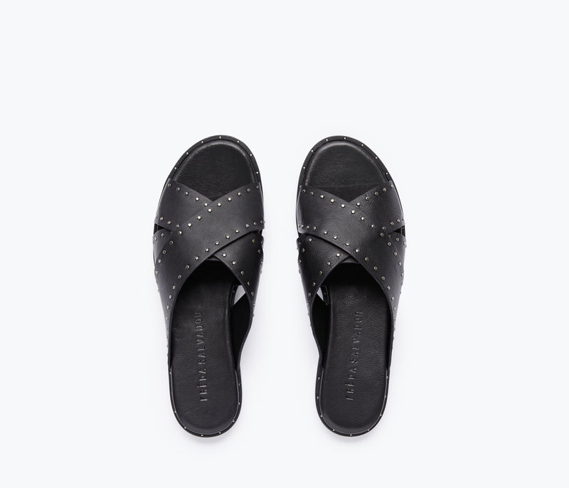 DEW STUDDED SANDAL, [product-type] - FREDA SALVADOR Power Shoes for Power Women