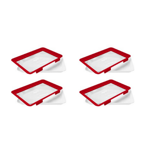 4 Pack- Microwaveable Food Sealing Tray