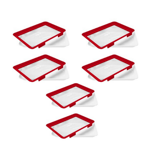6 Pack- Microwaveable Food Sealing Tray