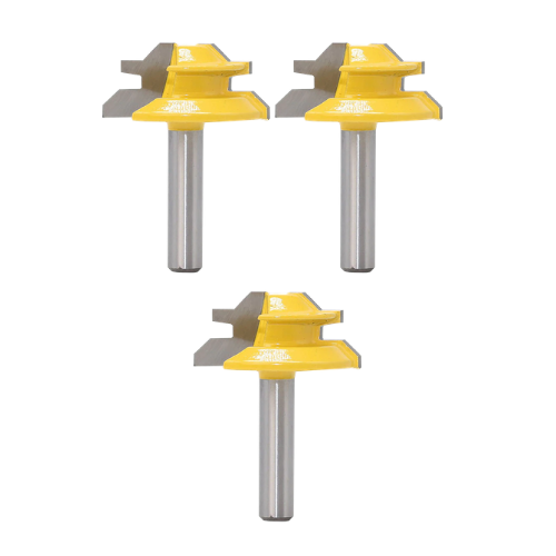 3 Pack- Lock Miter Router Bit