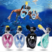 Load image into Gallery viewer, Full Face Snorkeling Mask