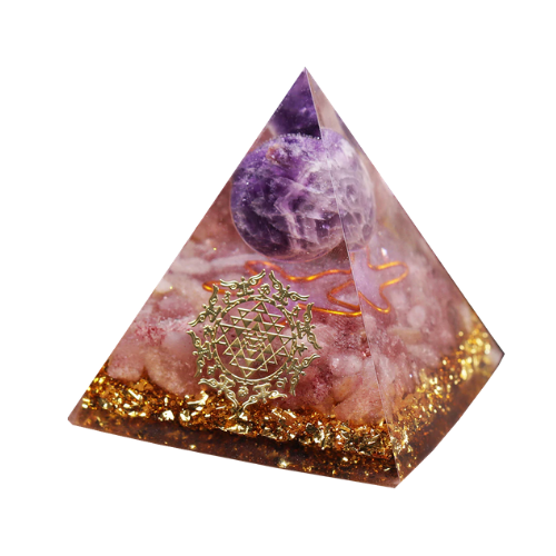 (1 Pack) Amethyst Crystal Pyramid