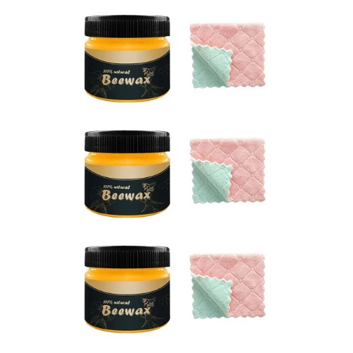 3 Pack - Beeswax Polish