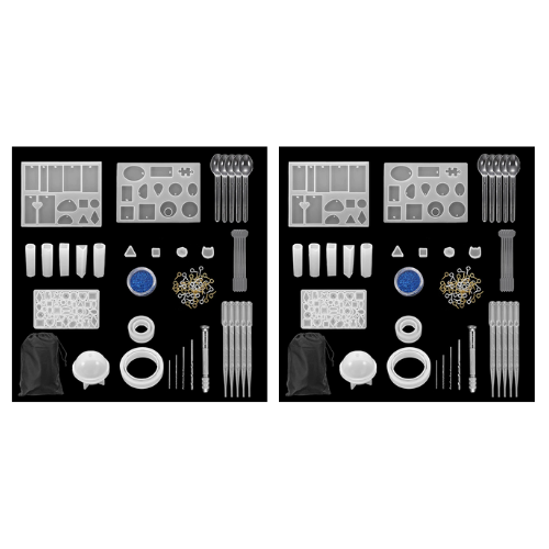 (2 Pack) DIY Crystal Mould Kit