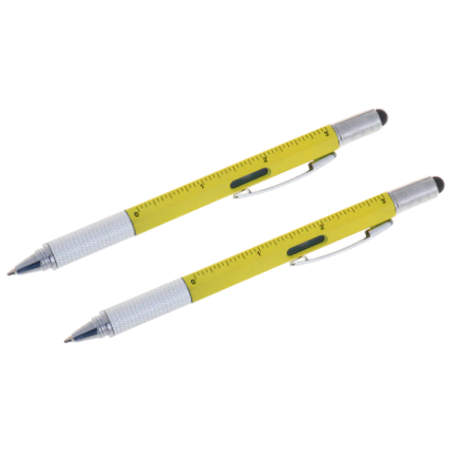 2 Pack - 6-in-1 Multi-Functional Stylus Pen