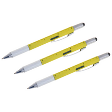 Load image into Gallery viewer, 3 Pack - 6-in-1 Multi-Functional Stylus Pen