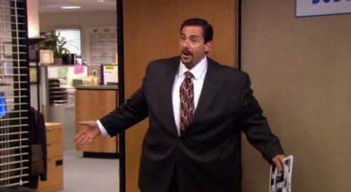 michael scott dressed as an obese