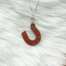 Load image into Gallery viewer, Blue Moon Horseshoe Necklace