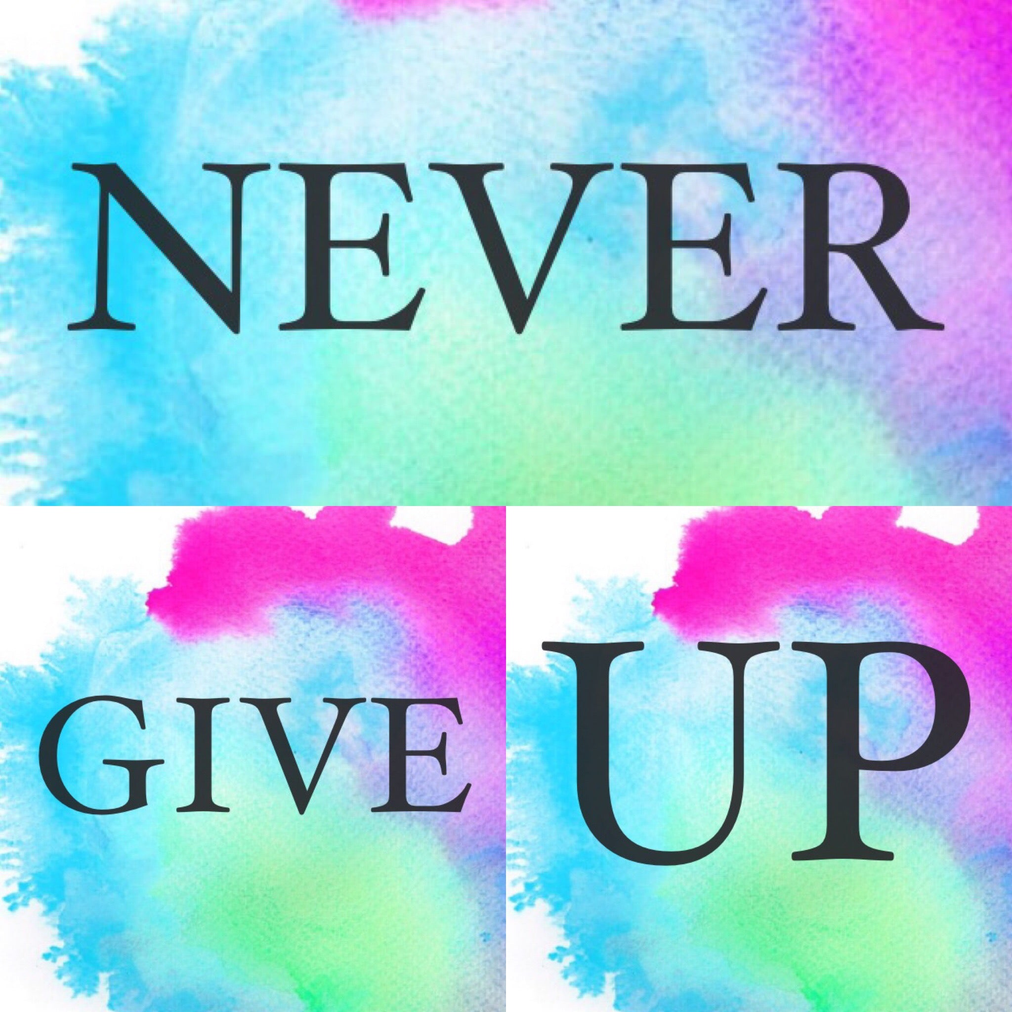 Never Give Up Main Quote