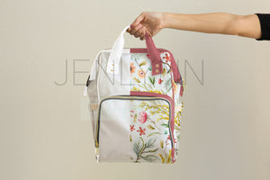 Custom Diaper Bag Backpack Mockup #15 PSD