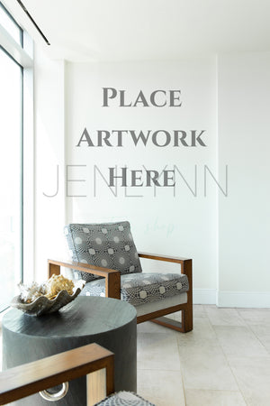 Modern Sitting Area Blank Wall Display JPG
