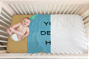 Baby Boy Minky Blanket + Crib Sheet Mockup #27