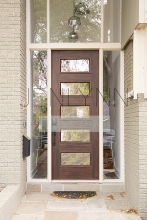 Dark Wood Modern front door mockup