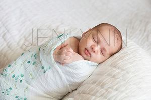 Swaddle Baby Boy Blanket Mockup #3