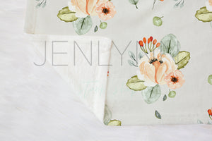 Fleece Baby Blanket Flat Lay Mockup #1