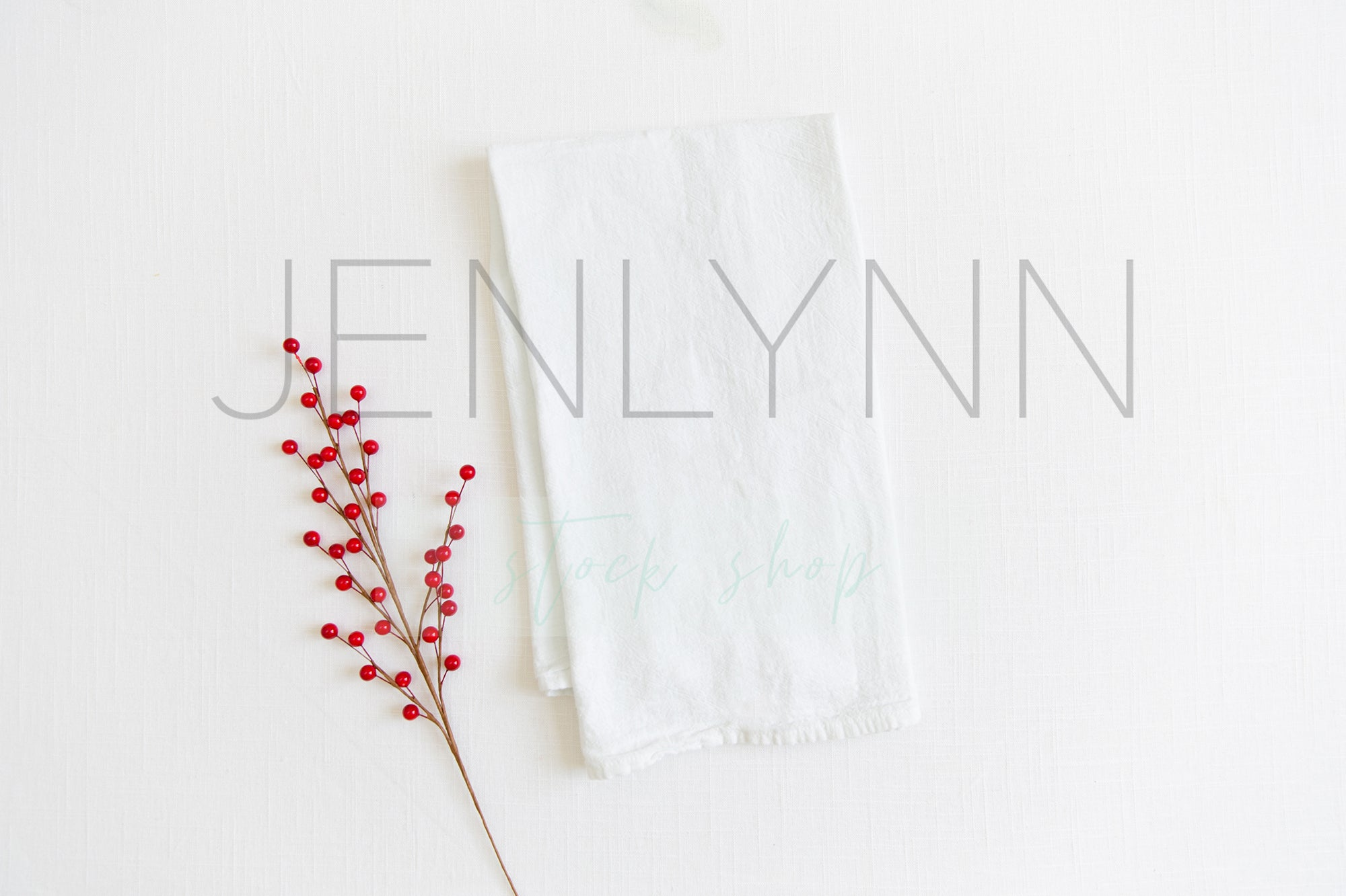 Christmas Kitchen Towel Mockup #2 JPG