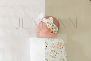 Jersey Baby Blanket and Bow Mockup #29 PSD