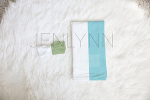 Jersey Swaddle Knotted Baby Bow Set Mockup PSD #7