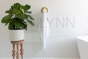 Hooded Baby Towel in Bathroom Mockup #LH02