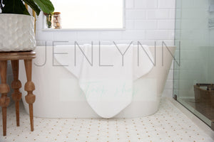 Custom Baby Towel Bathtub Mockup #LH4