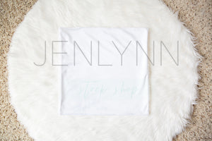 Minky Lovey Blanket with Sherpa Mockup #4
