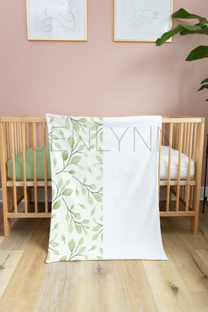30x40 Minky Blanket and Crib Sheet Mockup #GG05 PSD