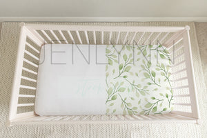 White Crib Sheet Mockup NN #5