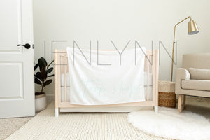 30x40 Minky and Crib Sheet Mockup NN#16 PSD